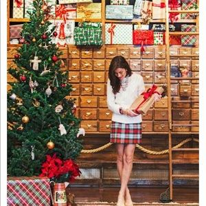J Crew Christmas Plaid Paper Bag Skirt